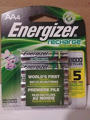 4 count Energizer Rechargeable AA Batteries  (Energizer Recharge)