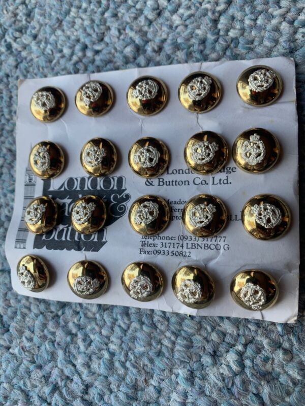 Authentic, MINT group of 20 RADC British Royal Army Dental Corps frosted buttons