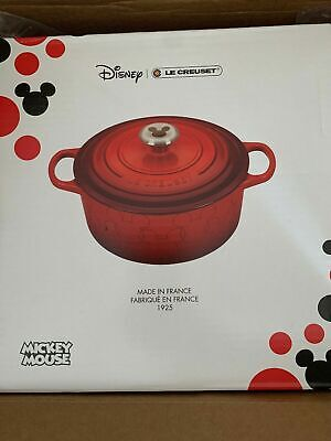 Mickey Mouse Dutch Oven by Le Creuset NWT Limited edition Red Ears RARE NEW 4.5Q