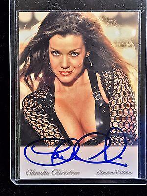 Claudia Christian Babylon 5 Signed Trading Card AUTOGRAPHED Susan Ivanova Photo