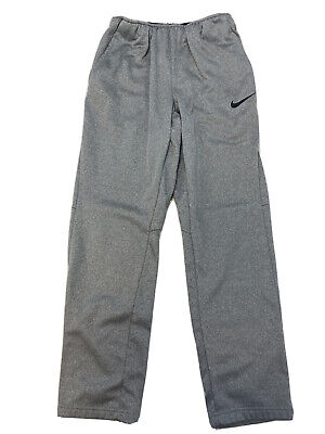 Nike Men's Gray Therma Fleece Lined Dri-Fit Training Pants 800191 Sz S