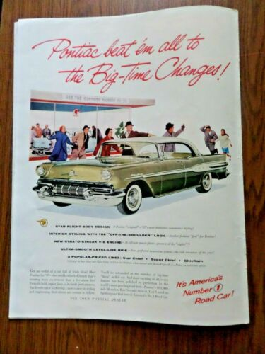 1957 Pontiac Ad Starchief Sedan See the Surprise Package of