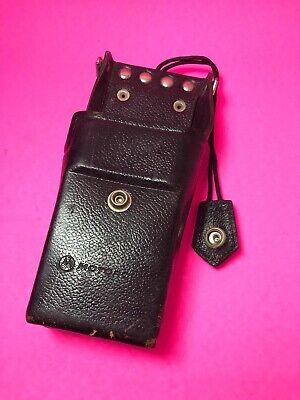 Vintage Motorola Leather Radio Case Belt Holder