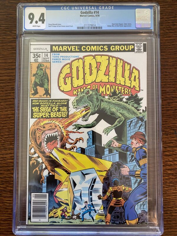 GODZILLA 14 CGC 9.4 WHITE PAGES RED RONIN MARVEL COMICS 1978