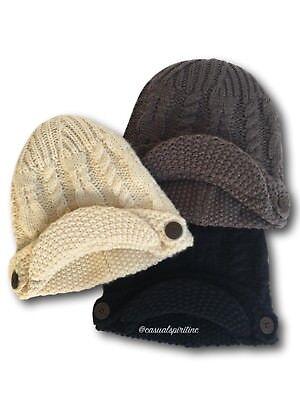 New $30 womens Columbia Good Medicine Beanie newsboy cap winter cable knit hat - Newsboy Beanie