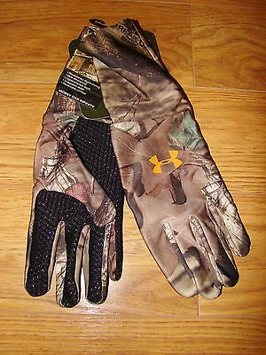 Under Armour Mossy Oak Infinity Camouflage Camo Gloves Gr...