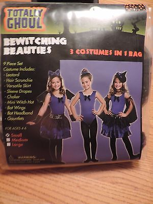 Girls HALLOWEEN Ballerina Beauty 3-1 Costumes sz small witch NWT Dramatic Play - Dramatic Halloween Costumes