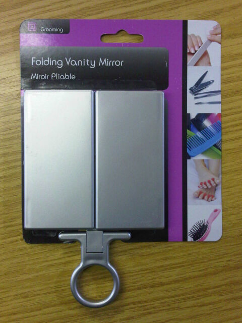 12 x Folding Hanging Vanity Make Up Mirror Handbag Travel Wholesale Job Lot