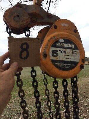 Harrington Chain Hoist - 5 Ton 20 Lift - Cf050-20model Cf4 0364