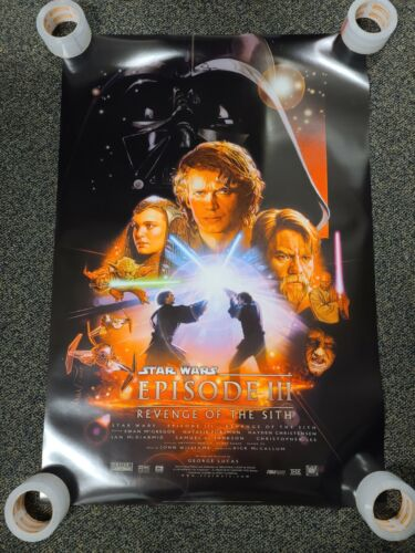 2005 STAR WARS III REVENGE OF THE SITH POSTER Original Movie Promotion Displayed