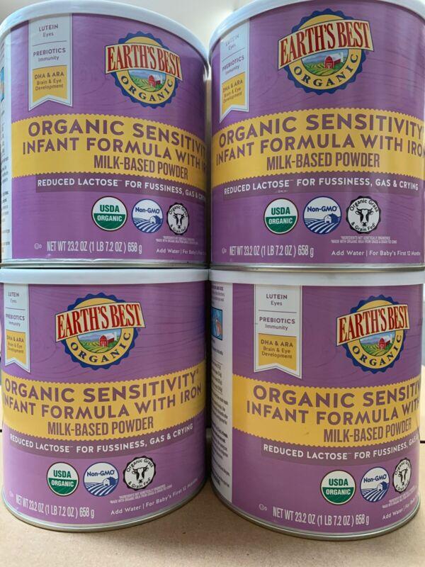 Earths Best Infant Formula 4 Pack Organic Sensitivity Powder 23.2oz Can Ex 2021
