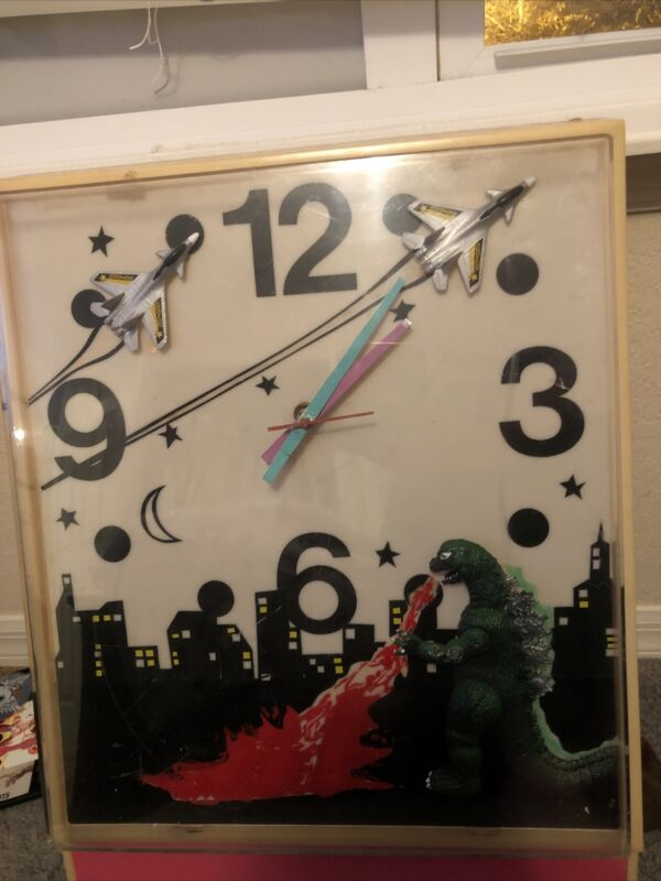 1972 Godzilla movie Promontional Clock