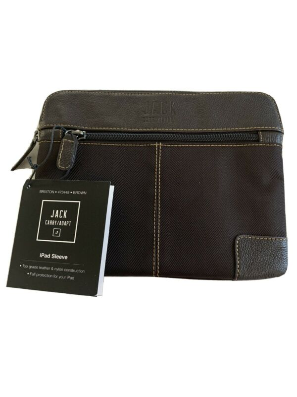 BNWT+Beautiful+BRIXTON+designer+leather+10%22+iPad+%2F+Tablet+case+Brown+473448