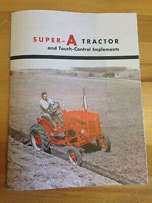 International Harvester Mccormick Farmall Super A Tractor Color Dealer Brochure
