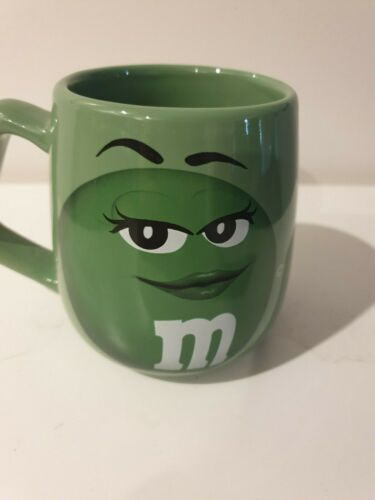 Green Miss M&M Coffee Mug. Mars 2013. Keep your hands off my shell. M&M