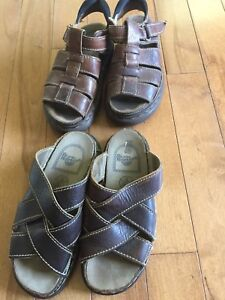 Leather Doc Martin sandals fit size 7/8