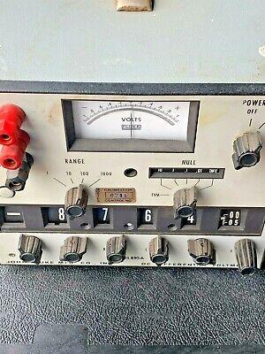 John Fluke Model 895a Differential Voltmeter Untested Unit