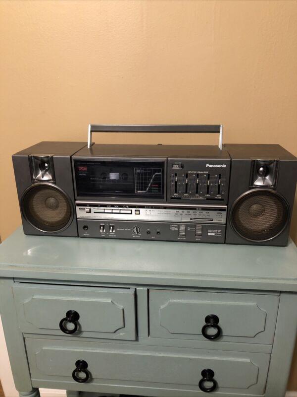 Vintage Panasonic RX-C45 Boombox GhettoBlaster AM/FM Radio Cassette Recorder