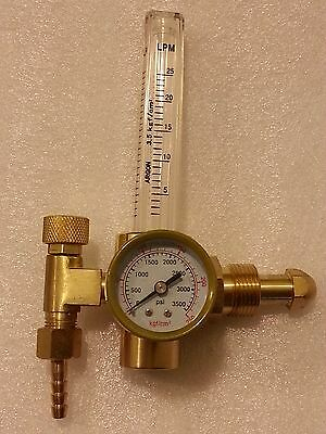 Argon Co2 Regulator Flowmeter Gas Pressure Gauge Migtig Welding Cga580 Us Ship