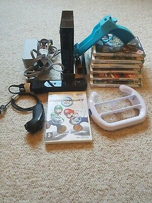 Nintendo Wii Console Bundle - Mario kart + Games - Tested Working - Free P&P