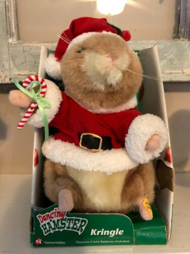 Gemmy Dancing Hamster Wish You Merry Christmas Santa Claus Suit Works Great!