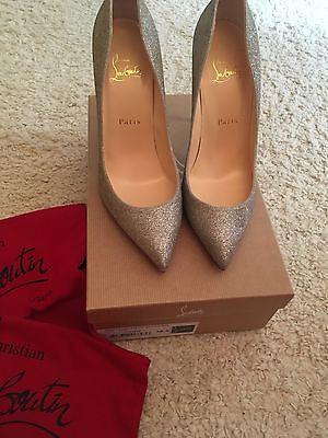 CHRISTIAN LOUBOUTIN Pigalle Follies 100 Sparkle Pumps Heels Shoes