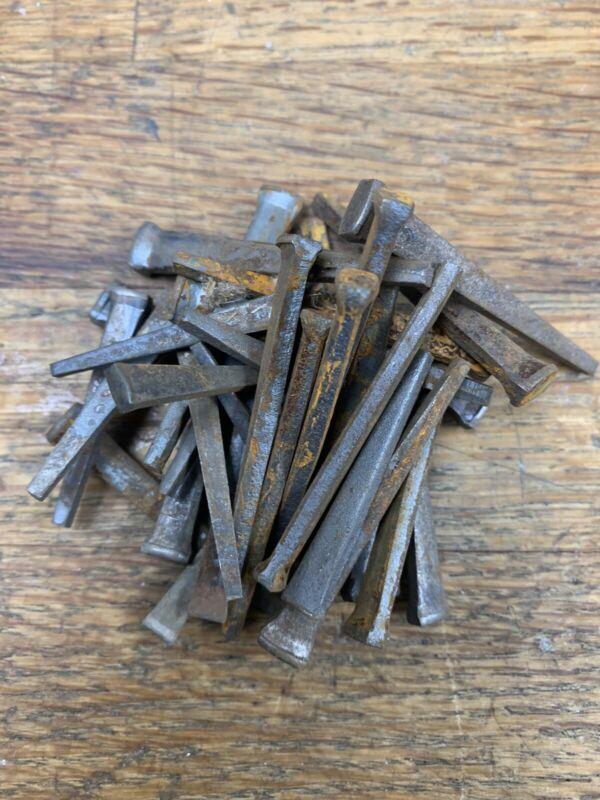 Antique Rustic Square Nails Lot Rosehead