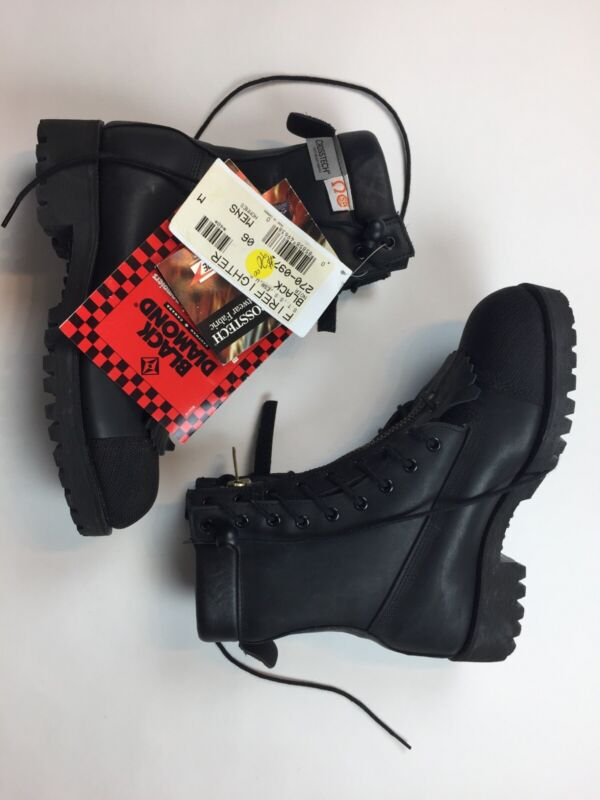 NEW Black Diamond Mens Firefighter Boots Leather 6 Crosstech 270-0971 Womens 8