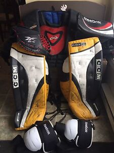 Goalie gear for sale.  Negotiable price