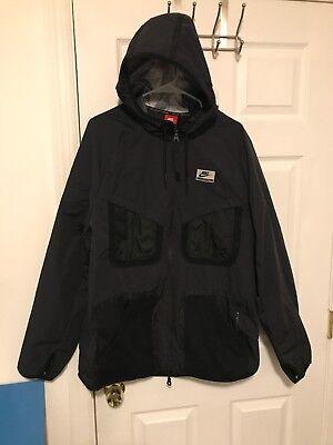 Men's Nike International Windrunner Jacket Black 3M Size XL 802482 010 Used
