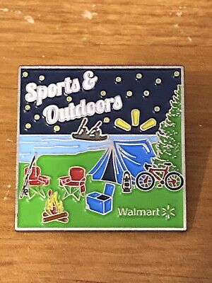 Rare Walmart Lapel Pin Sports and Outdoors Sporting Goods Spark Wal-mart (Sports And Outdoors)