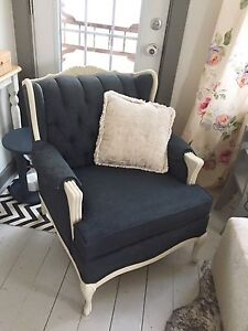 French Provincial antique chair and sofa