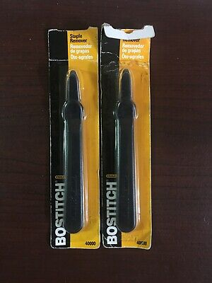 Lot Of 2 Stanley Bostitch Easy Staple Remover Non Slip Grip Black Model 40000 3