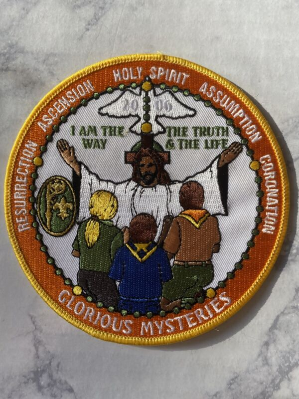 National Catholic Committee on Scouting 2006 Glorious Mysteries Rosary Patch 5""