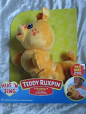 TEDDY RUXPIN PJ SING A LONG GRUBBY EXCLUSIVE NEW 2018