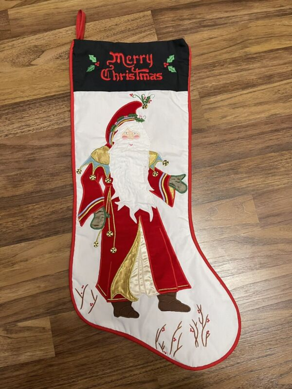 Vintage House Of Hatten Appliqué Stocking Enchanted Forest By Denise Calla