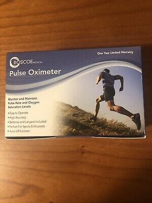 New Sealed Roscoe Medical Finger Pulse Oximeter Oxygeno2 Pulse Rate Monitor