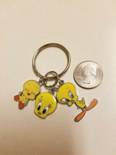 Yellow Tweety Bird metal charm pendants key chain - 3 pendants