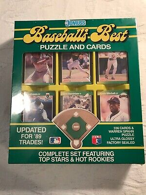 Vintage 1989 Donruss Baseball's Best Puzzle & Card Set Factory Sealed