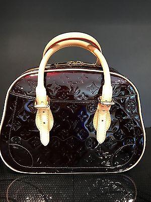 Auth NEW LOUIS VUITTON Monogram Vernis Summit Drive Handbag Dark Cherry