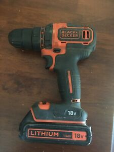 Black and decker cordless drill only used a handfull of times