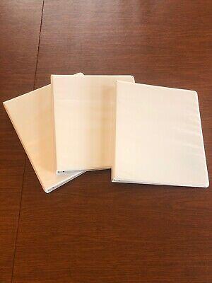 "Members Mark 4 pack 3 Ring D Ring Binders 2/"" 525 Sheet Presentation View White"