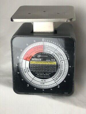 Pelouze Model K5 Tabletop Mechanical Postal Scale Capacity 5 Lb X 12 Oz Vintage