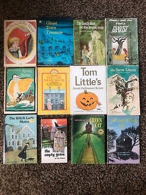 Childrens Halloween Books (Lot 12 Vintage Childrens Halloween Paperback Spooky Ghost Stories Chapter)
