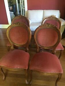Four Art Deco antique dining chairs. $125 each! Charlestown Lake Macquarie Area Preview