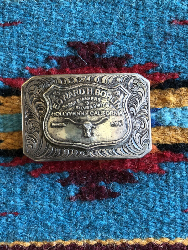 ED BOHLIN Longhorn Saddleplate Western AHMAD KHAN Sterling Trophy Buckle