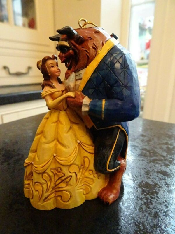 DISNEY TRADITIONS BEAUTY AND BEAST HANGING ORNAMENT A28960