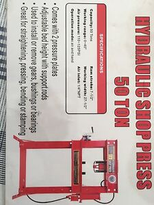 New in the box 50 ton shop press Peterborough Peterborough Area image 1
