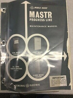 Vintage Ge Mastr Progress Line Vhf Repeater Base Service Manual Ham
