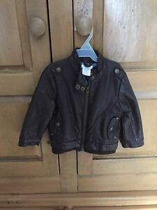 Faux Leather Jacket - Size 12-18 months